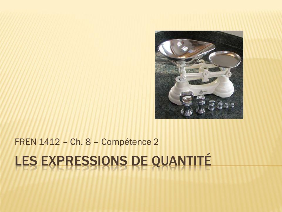 FREN 1412 – Ch. 8 – Compétence 2