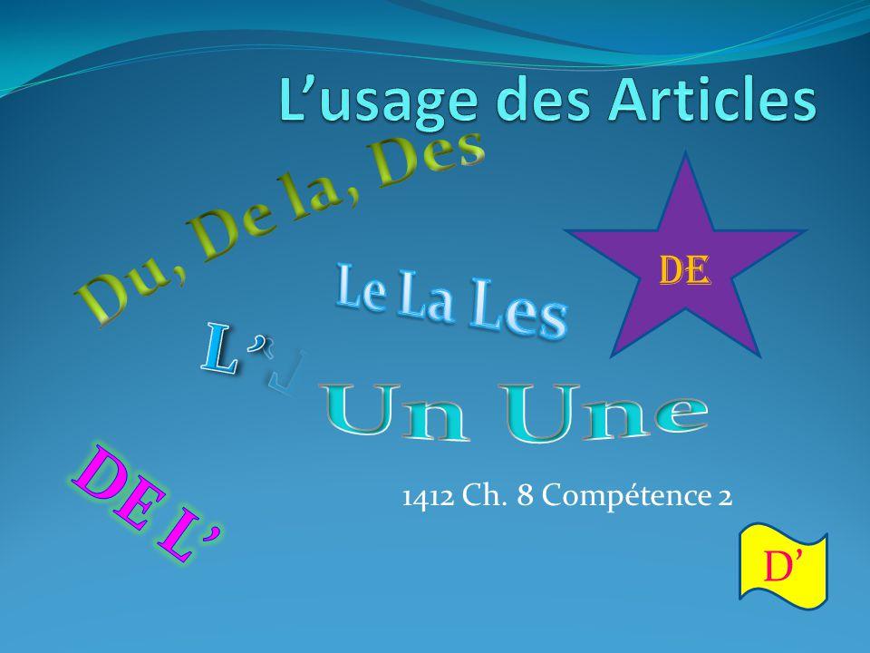 1412 Ch. 8 Compétence 2 DE D