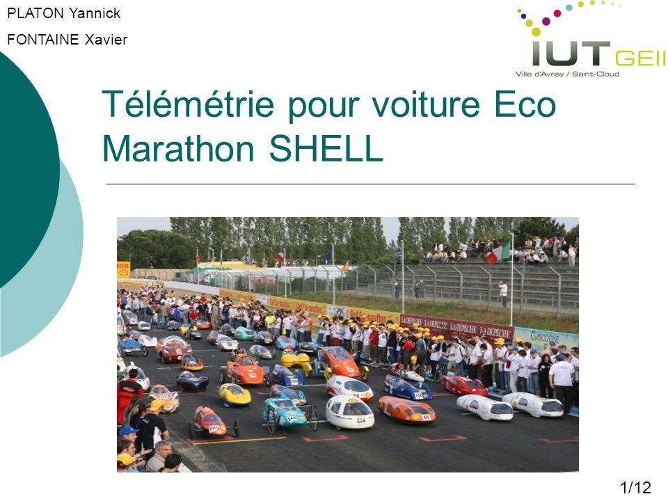 Télémétrie pour voiture Eco Marathon SHELL 1/12 PLATON Yannick FONTAINE Xavier