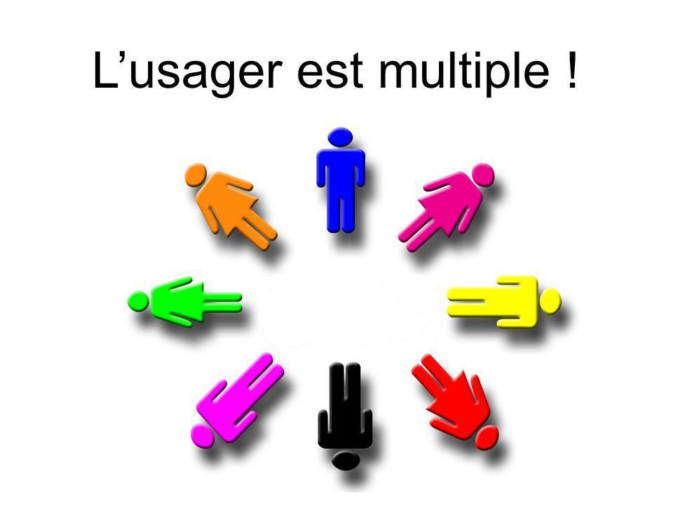 Mediadix - 26 juin 2009 Lusager est multiple !