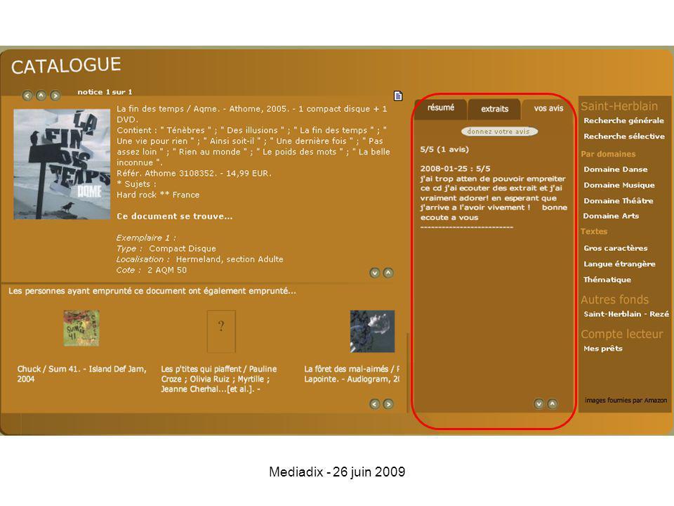 Mediadix - 26 juin 2009