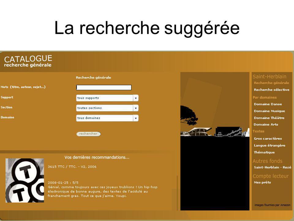 Mediadix - 26 juin 2009 La recherche suggérée