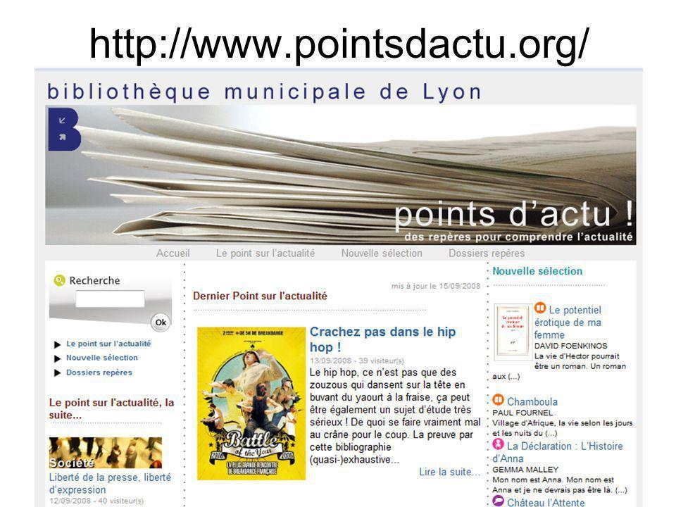 Mediadix - 26 juin 2009 http://www.pointsdactu.org/