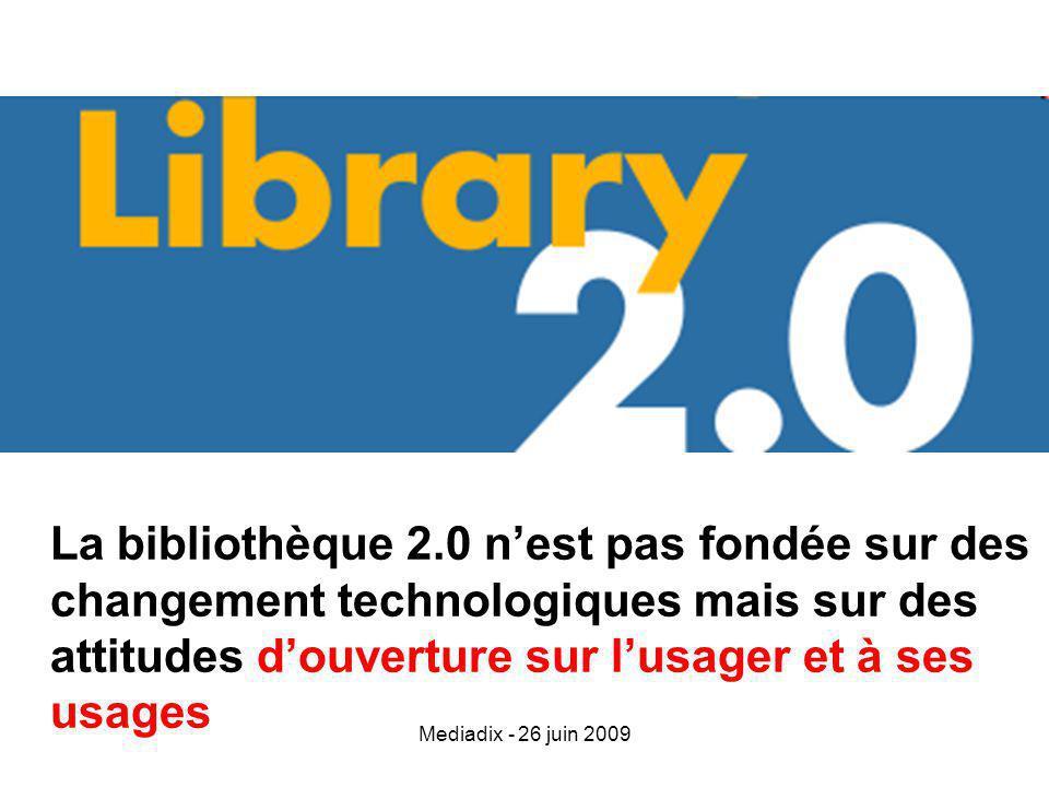 Mediadix - 26 juin 2009 Le bibliothécaire est un faiseur de chemin Bertrand Calenge : La politique documentaire à lère dinternet – Librairie du cercle