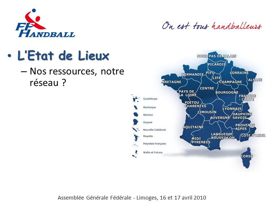 Létat des Lieux Létat des Lieux – Nos ressources, notre réseau .