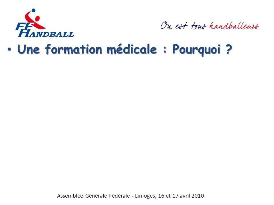 Une formation médicale : Pourquoi ? Une formation médicale : Pourquoi ? Assemblée Générale Fédérale - Limoges, 16 et 17 avril 2010
