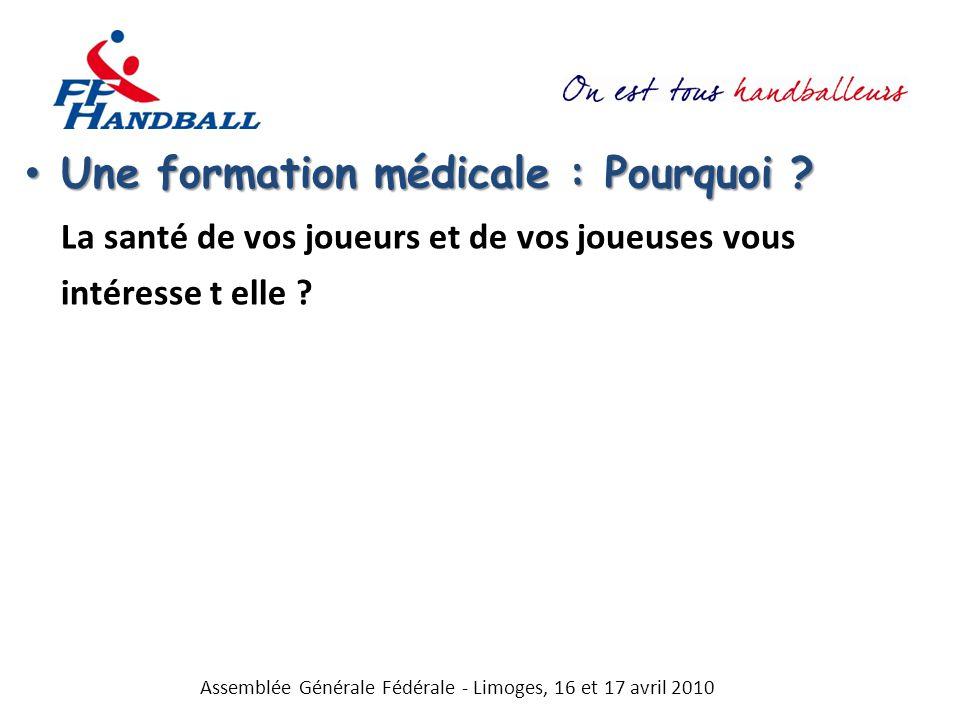 Une formation médicale : Pourquoi .Une formation médicale : Pourquoi .