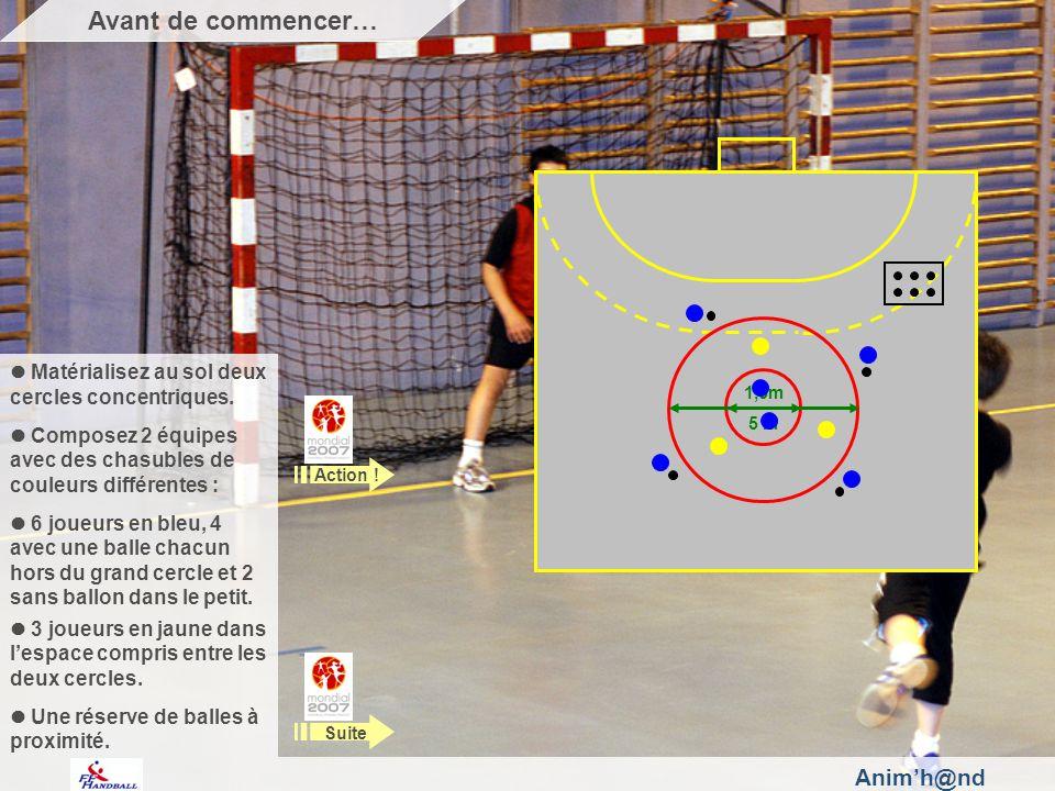 Animh@nd Au signal de lanimatrice, les bleus échangent les balles de la périphérie au centre et du centre vers la périphérie.