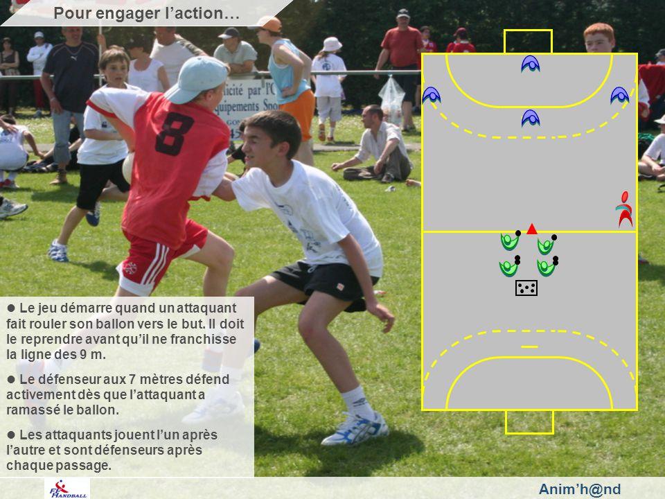 Animh@nd Le jeu démarre quand un attaquant fait rouler son ballon vers le but.