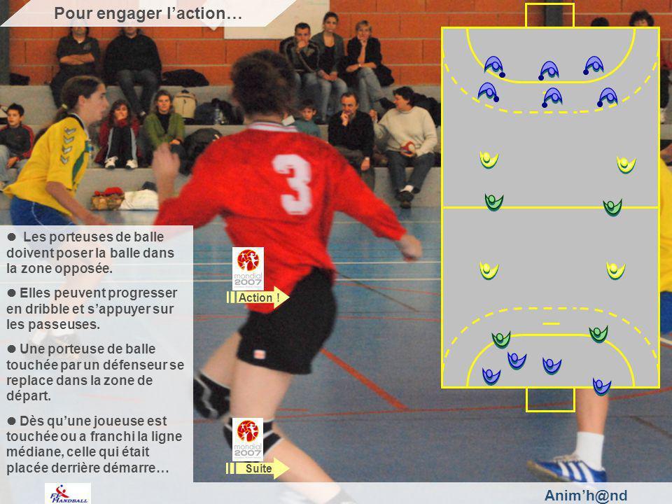 Animh@nd Les porteuses de balle doivent poser la balle dans la zone opposée.