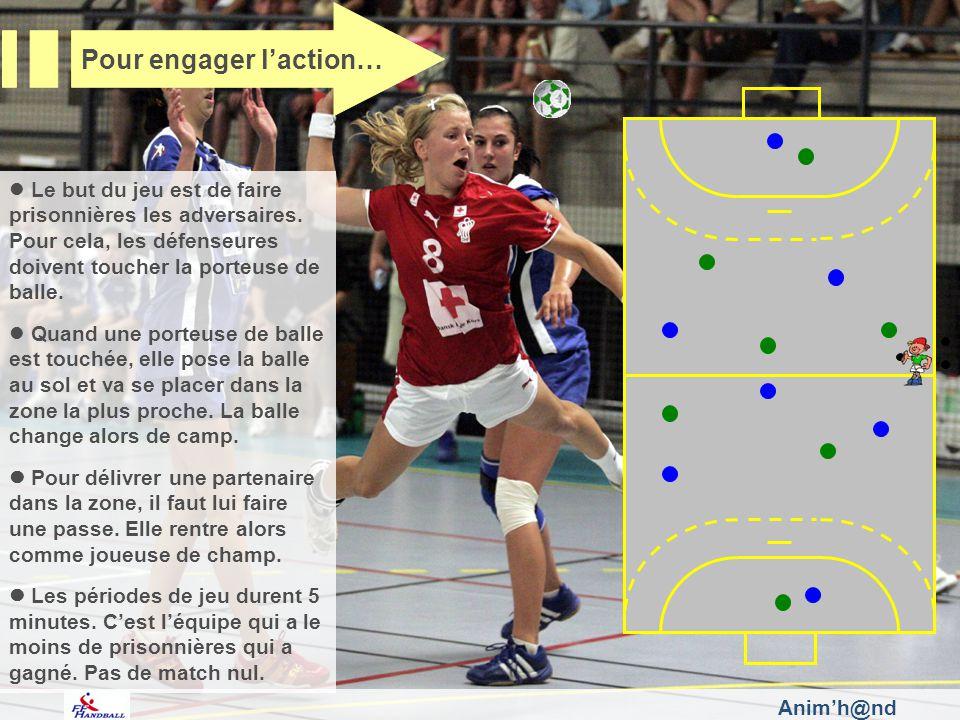 Le but du jeu est de faire prisonnières les adversaires. Pour cela, les défenseures doivent toucher la porteuse de balle. Quand une porteuse de balle