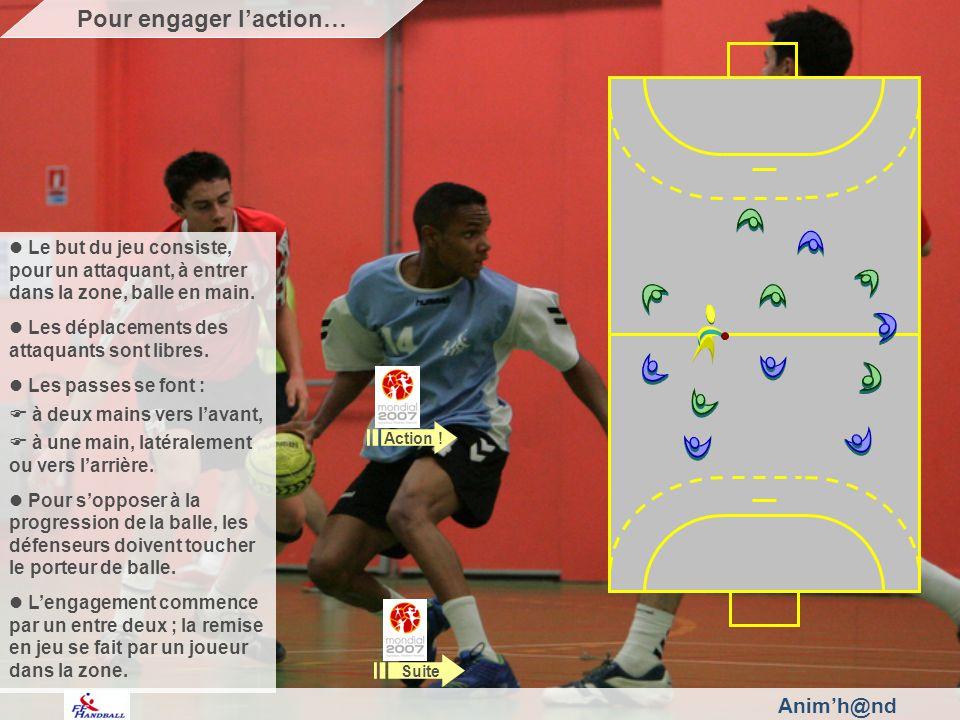 Animh@nd Le but du jeu consiste, pour un attaquant, à entrer dans la zone, balle en main.