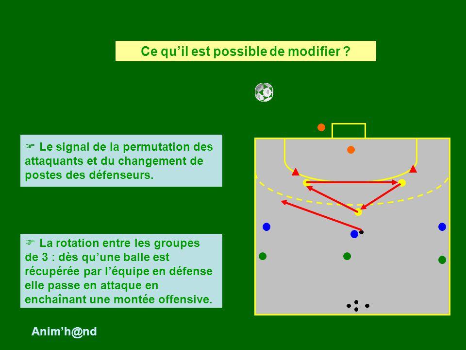 Le signal de la permutation des attaquants et du changement de postes des défenseurs. Ce quil est possible de modifier ? La rotation entre les groupes