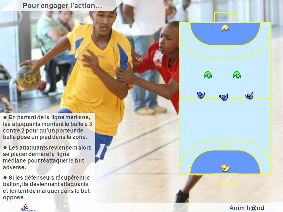 Animh@nd En partant de la ligne médiane, les attaquants montent la balle à 3 contre 2 pour quun porteur de balle pose un pied dans la zone.