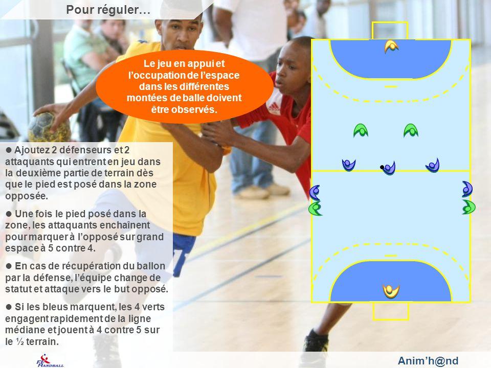Animh@nd Ajoutez 2 défenseurs et 2 attaquants qui entrent en jeu dans la deuxième partie de terrain dès que le pied est posé dans la zone opposée.