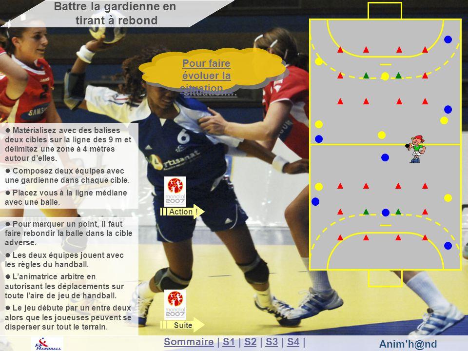 Animh@nd Les attaquantes en jaune doivent marquer un but.