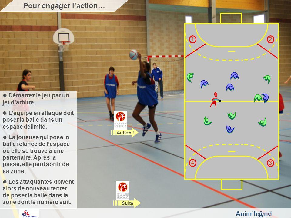 Animh@nd Les défenseures cherchent à récupérer la balle à tout moment, sur le grand ou le petit espace.
