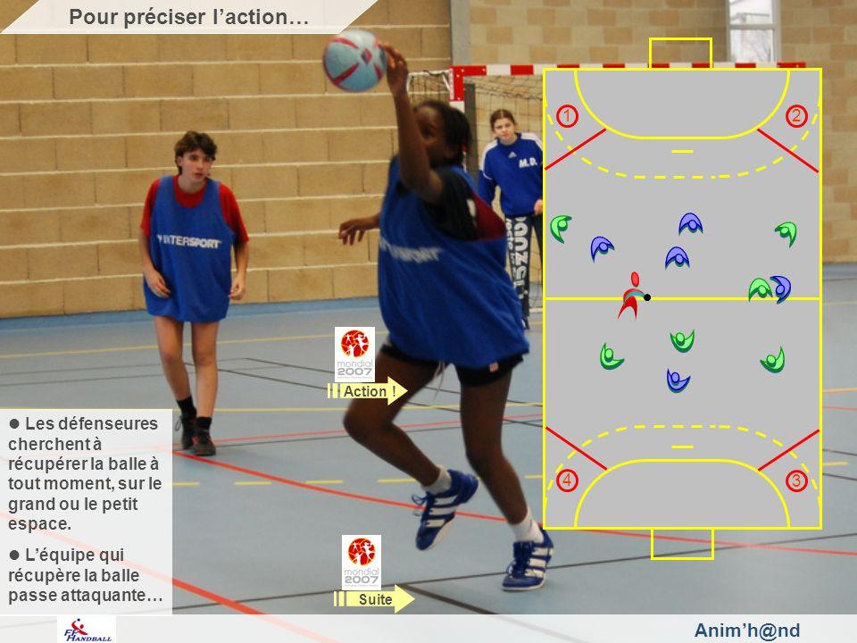 Animh@nd Rappelez aux joueuses quil faut quelles amènent la balle dans les secteurs en fonction de leur numérotation.