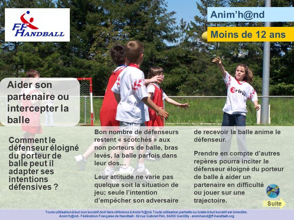 Animh@nd Avec des bandes plastifiées, tracez au milieu du terrain de mini handball un rectangle de 1 m sur 4.