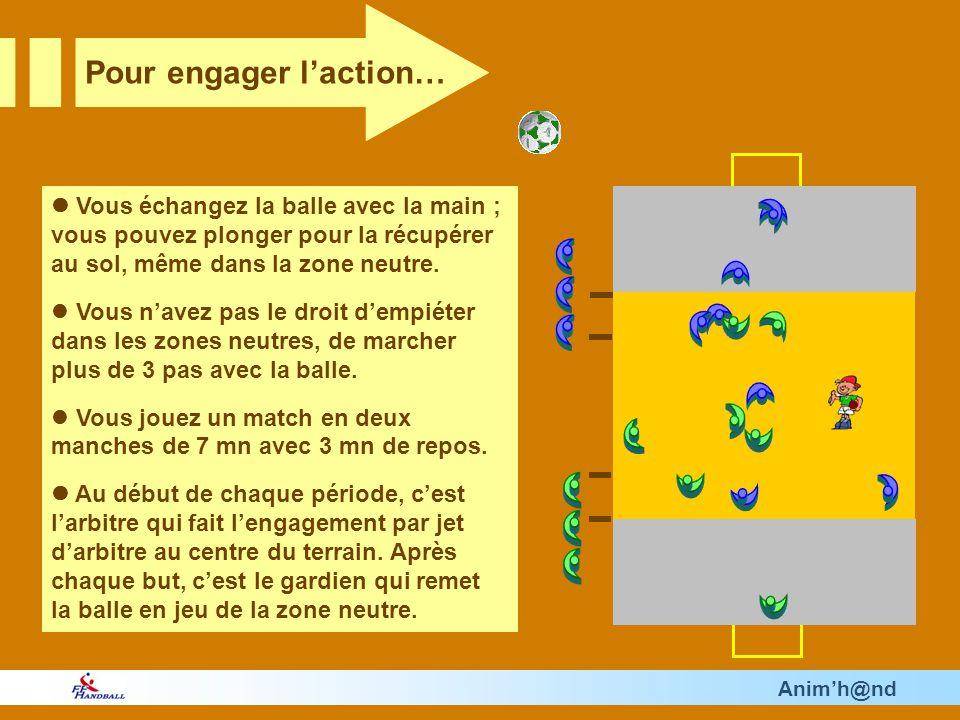 Animh@nd Vous échangez la balle avec la main ; vous pouvez plonger pour la récupérer au sol, même dans la zone neutre.