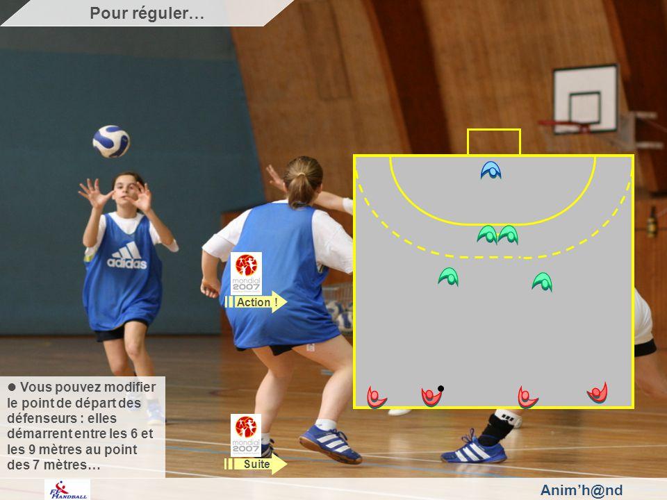 Animh@nd Vous pouvez modifier le point de départ des défenseurs : elles démarrent entre les 6 et les 9 mètres au point des 7 mètres… Action .