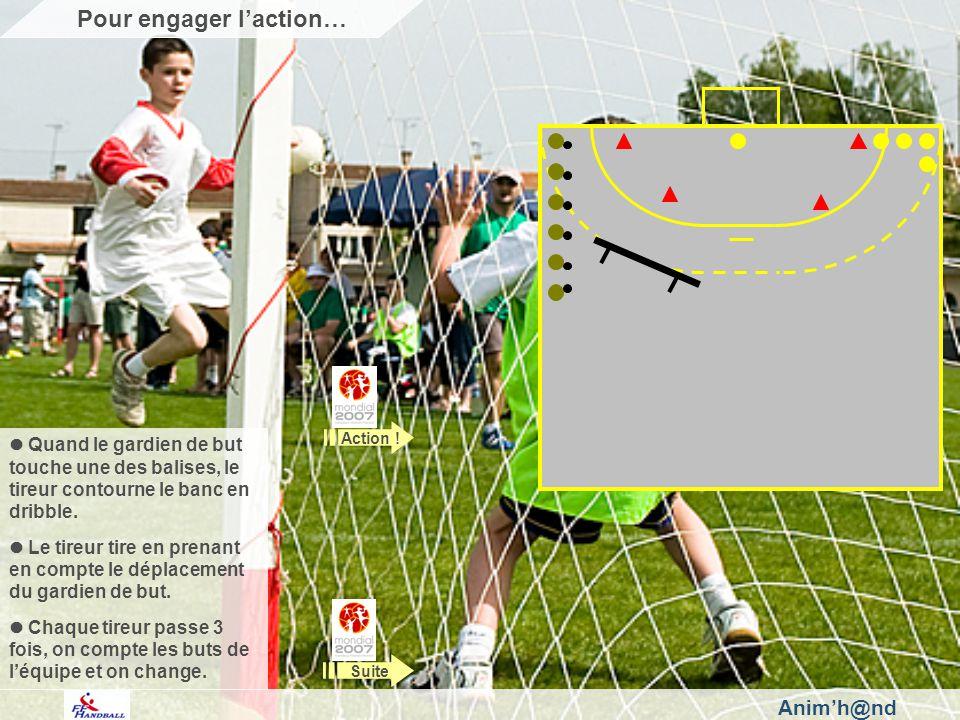 Animh@nd Veillez à ce que les distances balises/gardien et banc/tireur permettent légalité des chances.