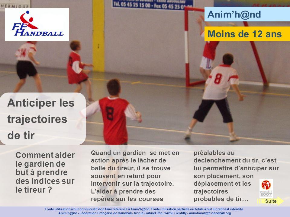 Animh@nd Installez un terrain de mini handball et posez une réserve de balles au centre du terrain.