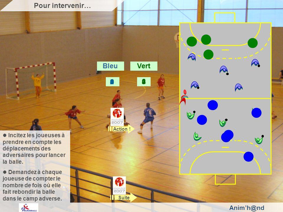 Animh@nd Incitez les joueuses à prendre en compte les déplacements des adversaires pour lancer la balle.
