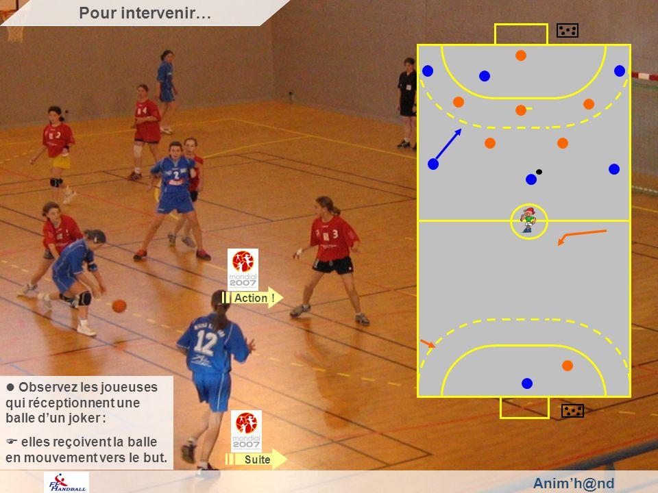 Animh@nd Observez les joueuses qui réceptionnent une balle dun joker : elles reçoivent la balle en mouvement vers le but.