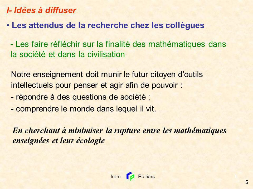 6 - Leur fournir des pistes pour analyser les programmes (Re)donner du sens peut se faire en travaillant sur les raisons dêtre des mathématiques enseignées.
