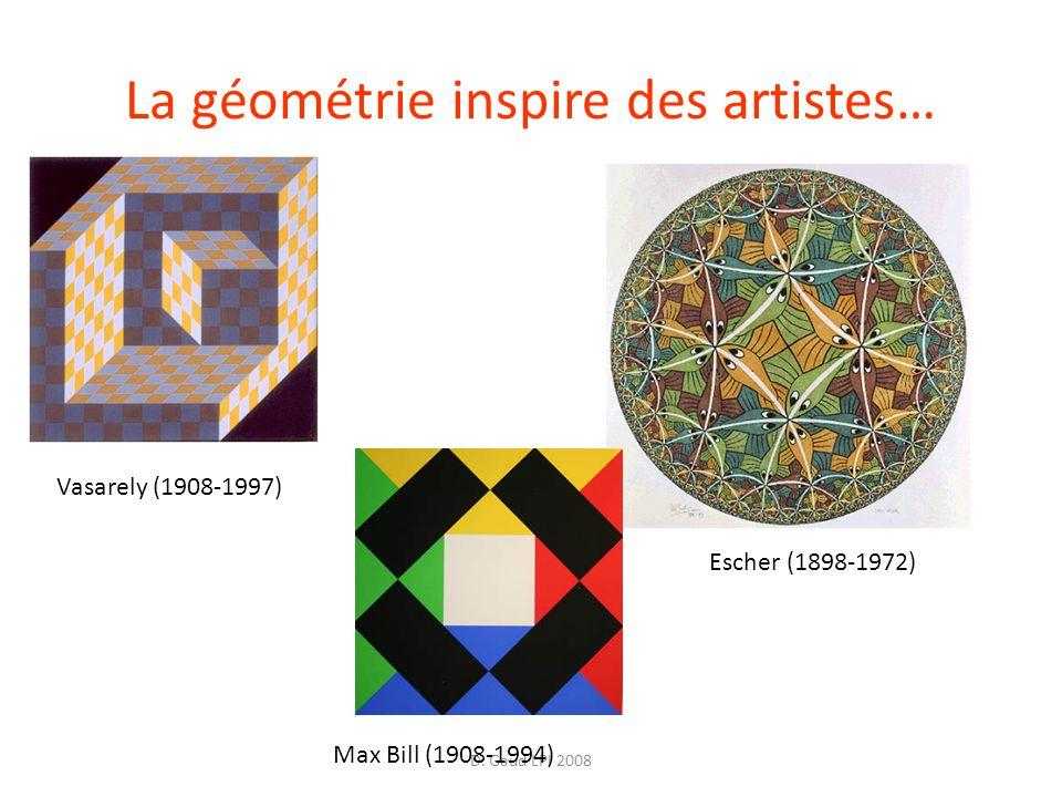 D. Gaud LPI 2008 La géométrie inspire des artistes… Vasarely (1908-1997) Escher (1898-1972) Max Bill (1908-1994)