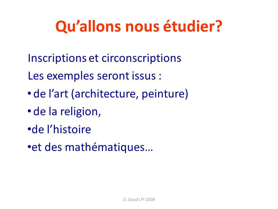 D.Gaud LPI 2008 Quallons nous étudier.