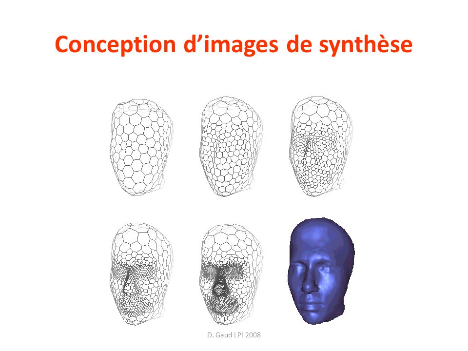 D. Gaud LPI 2008 Conception dimages de synthèse