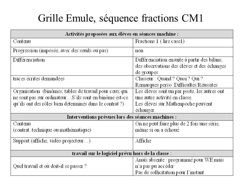 EMULE et les questions du thème 4 Quelles caractéristiques dun usage peuvent être transmises ou mutualisées.