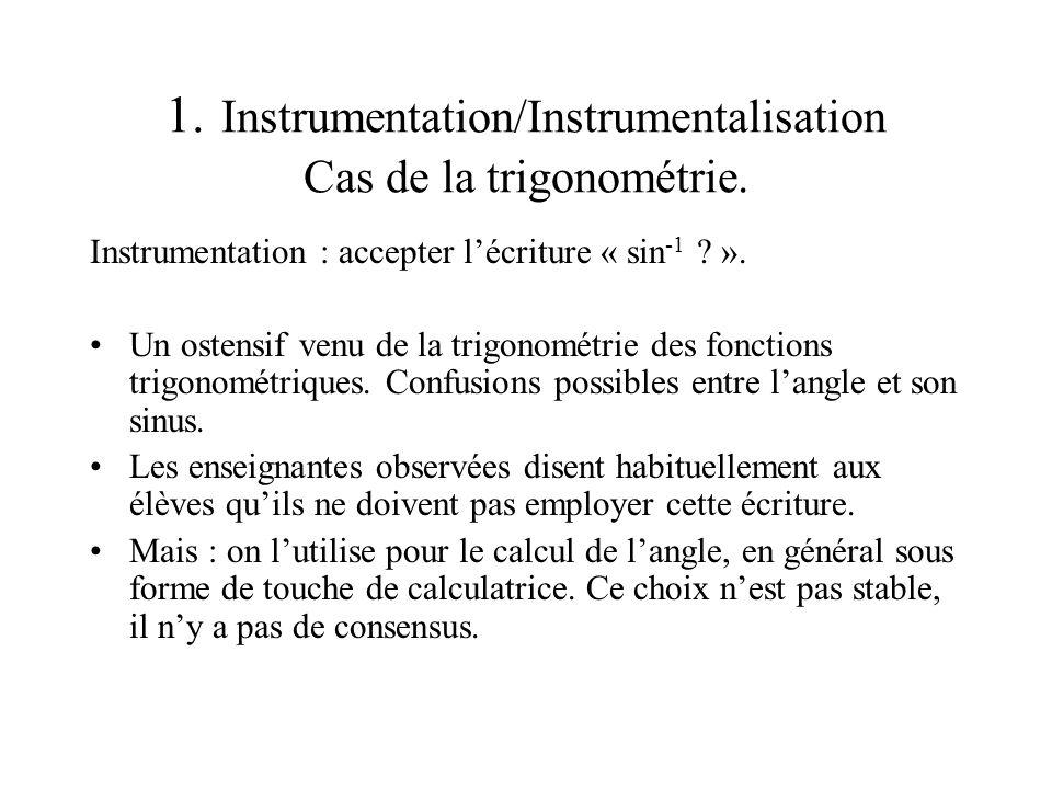 2. Tâches et techniques didactiques instrumentées : SUJET