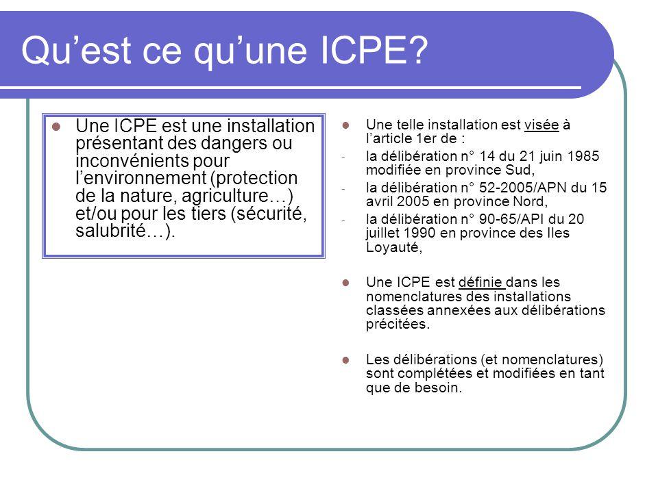 Quest ce quune ICPE.