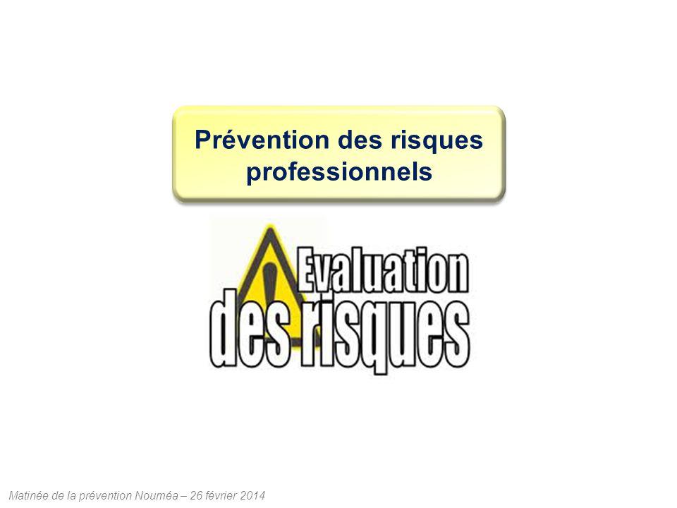 Matinée de la prévention Nouméa – 26 février 2014 Prévention des risques professionnels