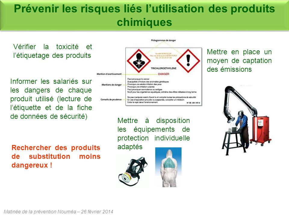 Matinée de la prévention Nouméa – 26 février 2014 Rechercher des produits de substitution moins dangereux .