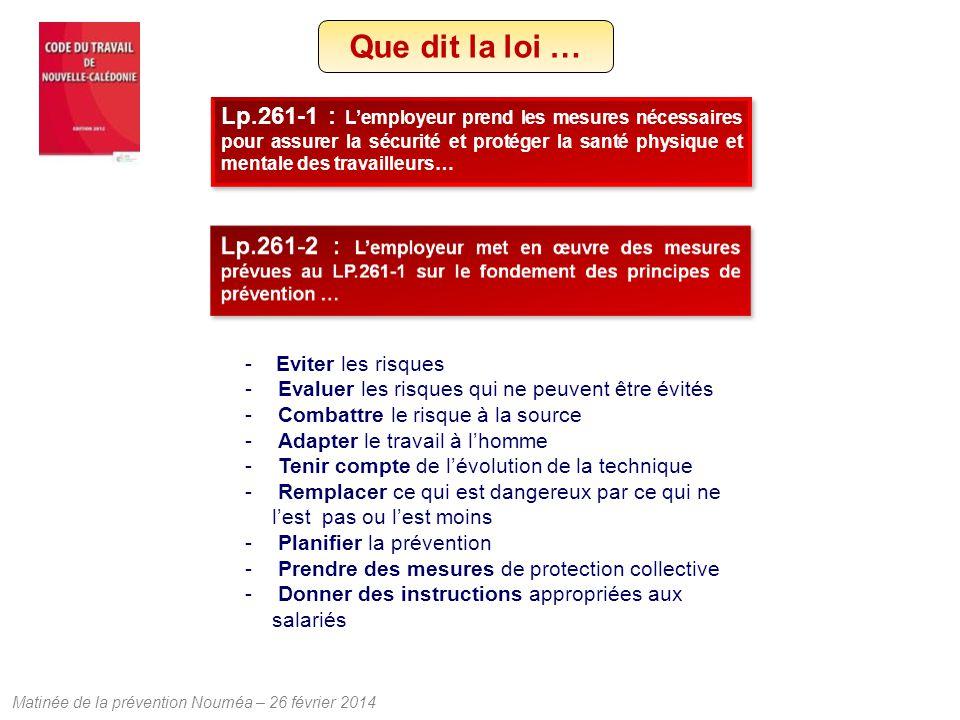 Matinée de la prévention Nouméa – 26 février 2014 U.