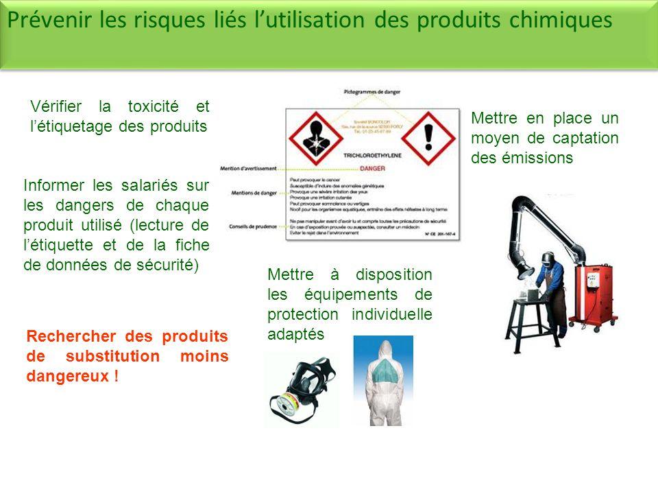 Rechercher des produits de substitution moins dangereux .