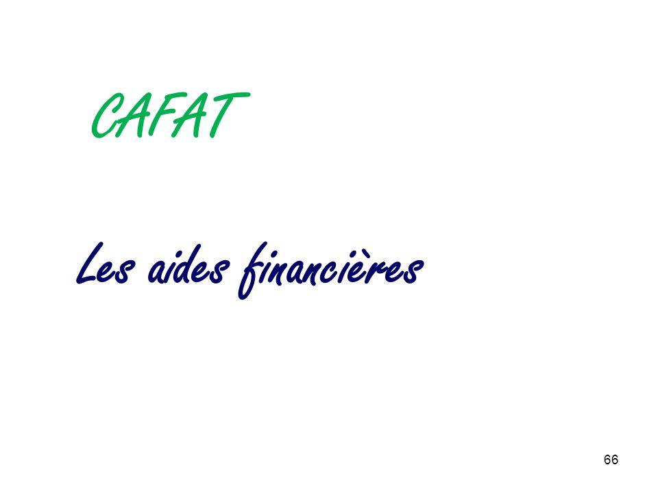 66 Les aides financières CAFAT