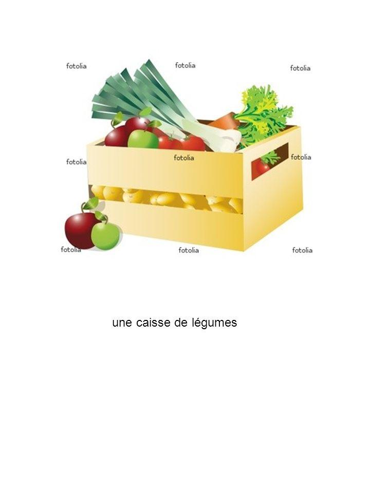 une caisse de légumes