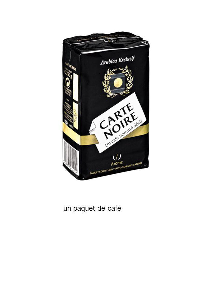 un paquet de café