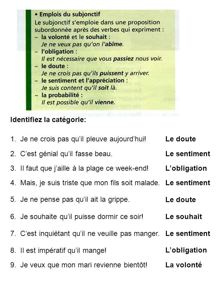 -ons -ent INFINITIF -er (parler) -ir (finir) -re (attendre) PRÉSENT -er +e, +es, +e, +ons, +ez, +ent -ir +is, +is, +it, +issons, +issez, +issent -re +s, +s, +(t),+ons, +ez, +ent LA CONJUGAISON DES VERBES RÉGULIERS SUBJONCTIF +ions, +iez +e, +es, +e, +ent