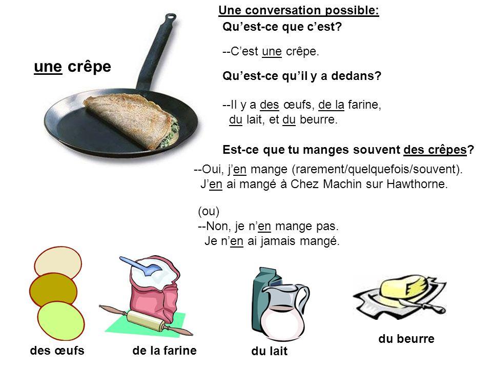une quiche (entière) de la quiche (une partie) des œufsdu bacon du fromage --Cest une quiche.
