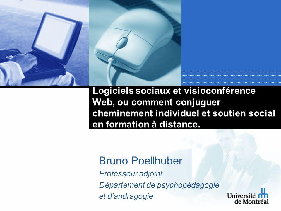Logiciels sociaux et visioconférence Web, ou comment conjuguer cheminement individuel et soutien social en formation à distance.