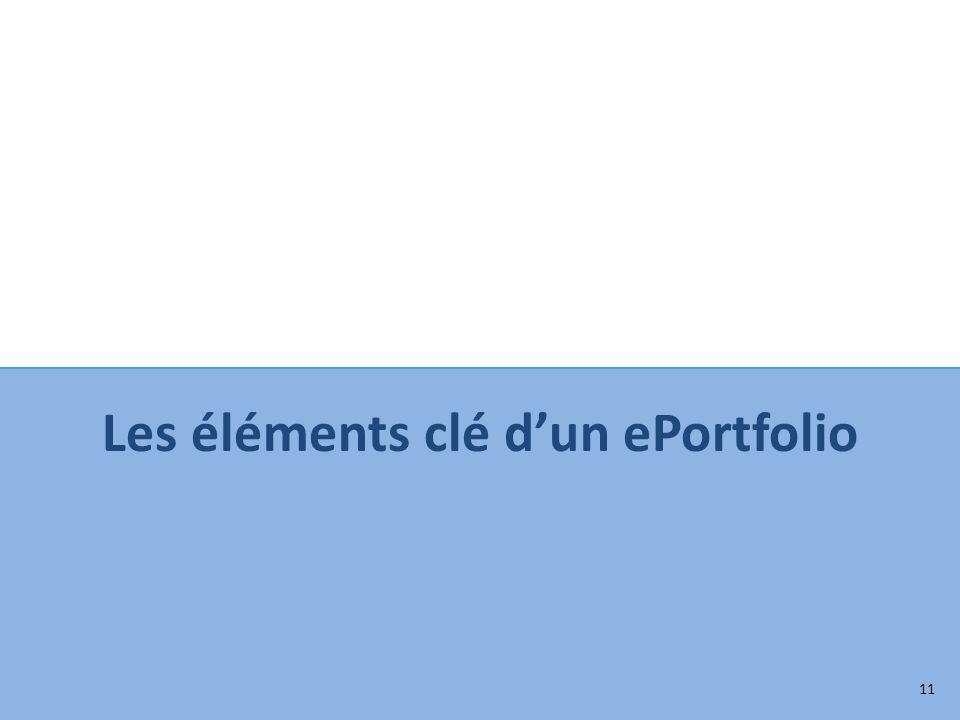 Les éléments clé dun ePortfolio 11
