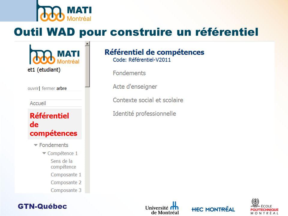 GTN-Québec Outil WAD pour construire un référentiel