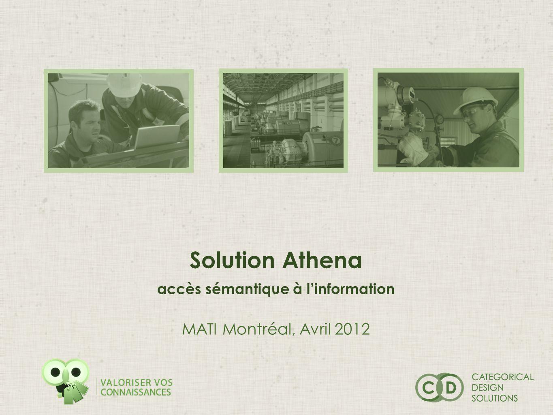 Solution Athena accès sémantique à linformation MATI Montréal, Avril 2012