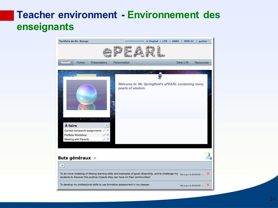 Teacher environment - Environnement des enseignants 24